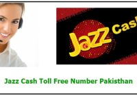 Jazz Cash Toll Free Number Pakisthan