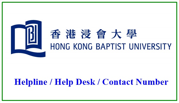 Hong Kong Baptist University Helpline Number
