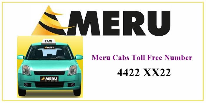 Meru Cabs Toll Free Number