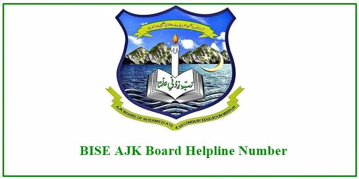 BISE AJK Board Helpline Number