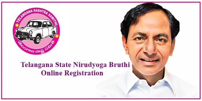 Telangana State Nirudyoga Bruthi Online Registration