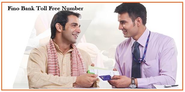 fino banktoll free number