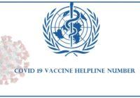 covid 19 vaccine helpline number