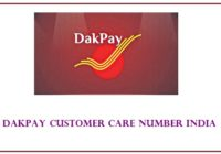 dakpay customer care number India