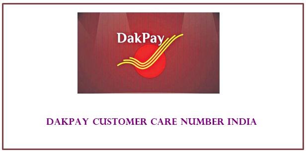 dakpay customer care number India