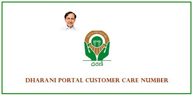 dharani portal customer care number hyderabad